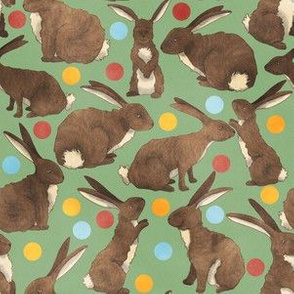 Bunnies and Baubles - Green - Christmas Bunnies Colelction