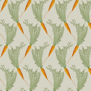 carrots on beige - medium