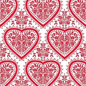 Red folk heart