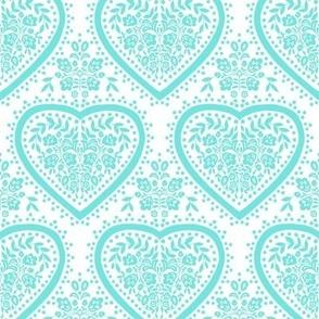 Blue folk heart