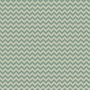 mini chevron - gray & laurel green