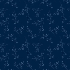"""Cotswold sprig - midnight blue (4"""")"""
