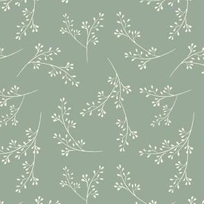 """Cotswold Sprig - sage green (6"""")"""