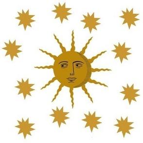 Sun and Stars-white