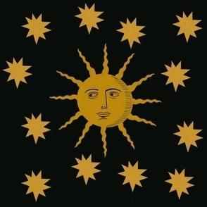 Sun and Stars-Black