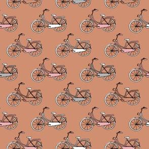 Sweet vintage bike ride bicycles in rust sienna pink girls
