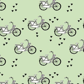 Bike love summer day bicycle ride sweet girls design pink mint hearts
