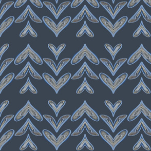 Mermaid tails on blueII-pattern