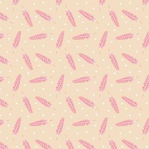 Tiny little feathers sweet boho geometric scandinavian style retro print pink blush