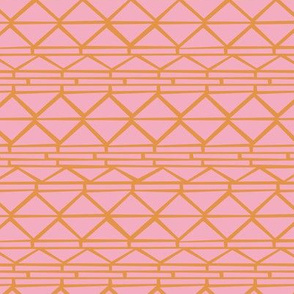 Abstract geometric triangles navajo indian style ethnic aztec design pink orange