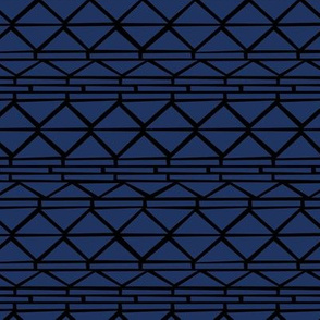 Abstract geometric triangles navajo indian style ethnic aztec design navy blue black winter