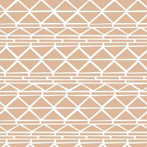 Abstract geometric triangles navajo indian style ethnic aztec design cinnamon gray beige neutral