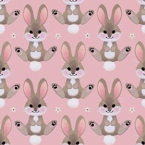 Spring bunny (pink)
