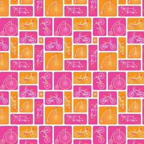 Retro bicycle pink