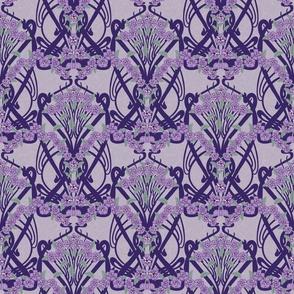 Art Nouveau Violets-- Larger