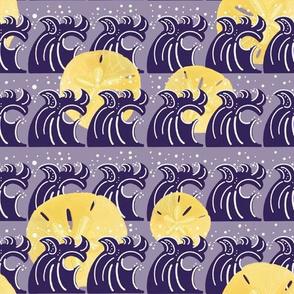 Under the Sea-waves/purple