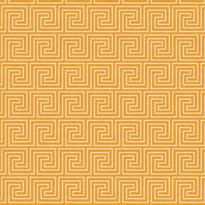 tan and yellow greek key