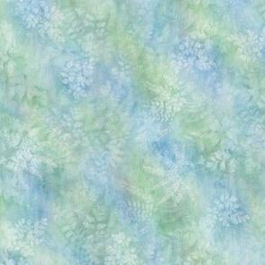 Thunbergia Maidenhair Sunprint Texture Blue