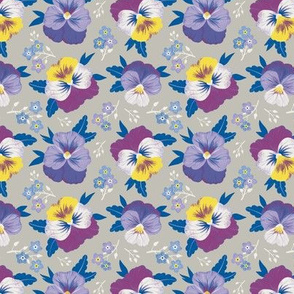 Pansies and  forget-me-nots_Small scale