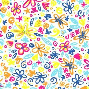 Neon Doodle Floral