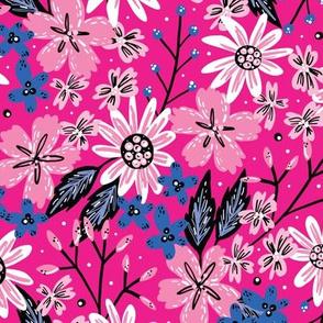 Bubblegum Rustic Floral