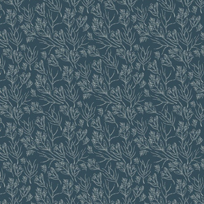 Wildflowers   Nocturne Blue  (2021 Quiet Haven Palette Coordinate)