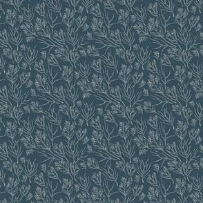 Wildflowers | Nocturne Blue  (2021 Behr - Quiet Haven Palette Coordinate)