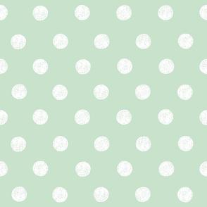 Hand Drawn Polkadot (large)   Wishful Green - Inverse  (2021 Subtle Focus Palette Coordinate)
