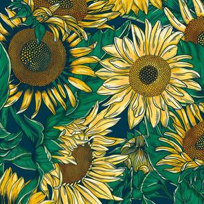 sunflower-wall