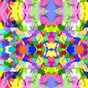 Unicorn Rainbow Kaleidoscope