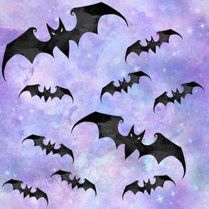Creepy Halloween Bats pastel