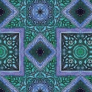Bohemian ceiling green purple