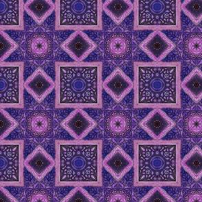 Bohemian ceiling purple