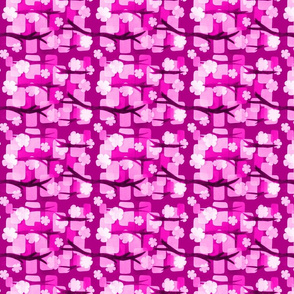 Pink Paper Cherry Lanterns