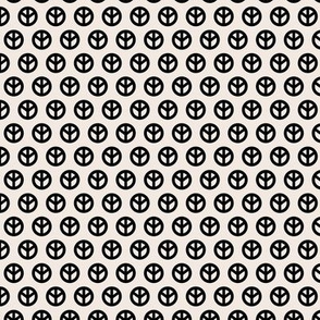 Minimalist hippie peace sign rows sweet boho style scandinavian trend baby nursery print ivory beige white black