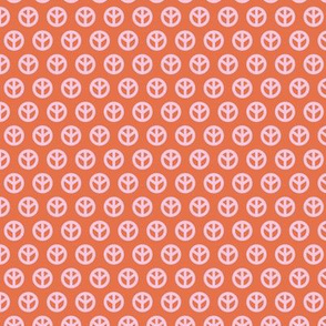 Minimalist hippie peace sign rows sweet boho style scandinavian trend baby nursery print burnt orange pink girls