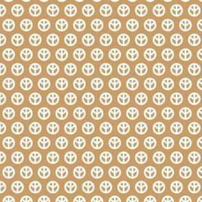 Minimalist hippie peace sign rows sweet boho style scandinavian trend baby nursery print caramel cinnamon white neutral
