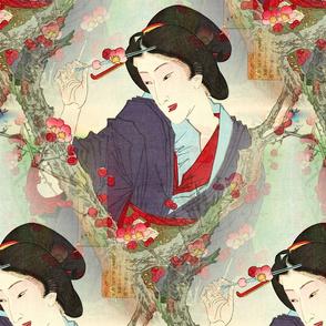 Geisha and Blossoms