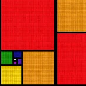 Golden Spectrum Patchwork Visually Textured