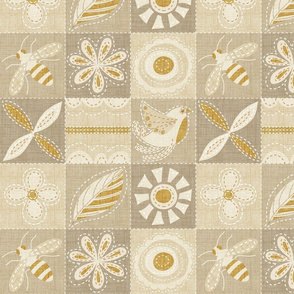 quilted linen patchwork