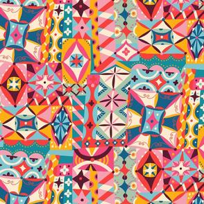 patchwork folk art playground // medium scale