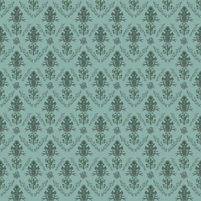 Desert Damask in Aegean Teal (small)