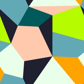 BOHO Patchwork Background (Palette 2)