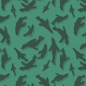 Cape Fur Seal Pattern green
