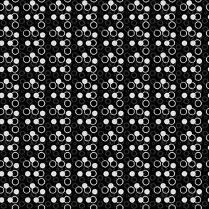 Bubbles in black and white
