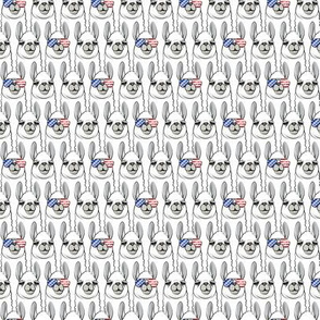 (small scale) patriotic llama stacked C21