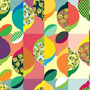 Lemon Patchwork Quilt