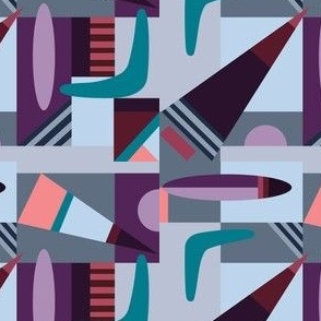 Pieced Together Modern Geometric Active Patchwork