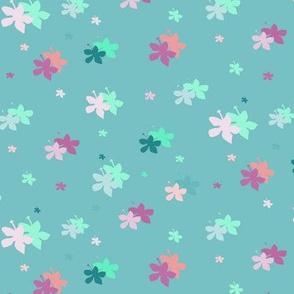 Happy Hibiscus, soft turquoise