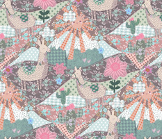 Happy Boho Llama patchwork